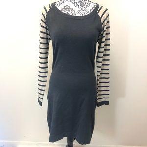 TART Gray Long Sleeve Sweater Dress Medium